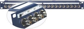Адаптер UHD-BNC проходной панельный | гнездо > гнездо | крепление- гайка