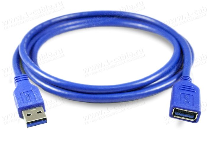 1K-USB303-AAF-00.5, Кабель- удлинитель USB 3.0 для передачи данных, штекер (тип A) - гнездо (тип A)