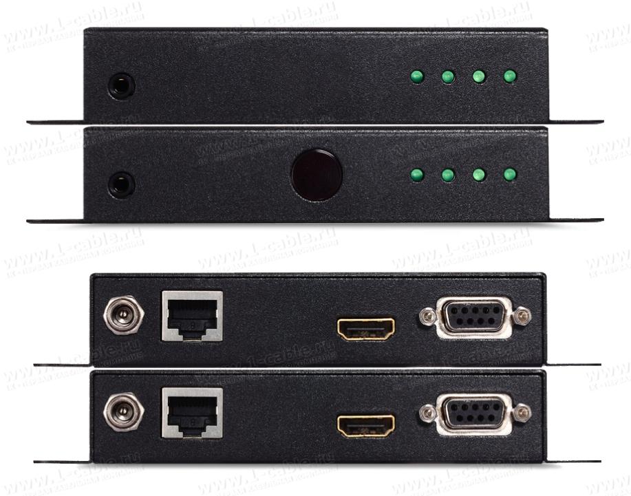 Порты подключения и индикация HIT-HDMI4K2K-CAT-070W