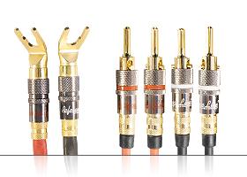 Акустический переходной кабель | серия REFERENCE Line | 2x Spade 45 гр. > 4x Banana / Bi-wiring