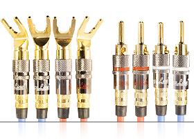 Акустический переходной кабель | серия REFERENCE Line | 4x Spade 45 гр. > 4x Banana / Bi-wiring