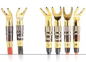 Акустический кабель | серия REFERENCE Line | 2х Spade 45 гр. > 4х Spade / Bi-wiring