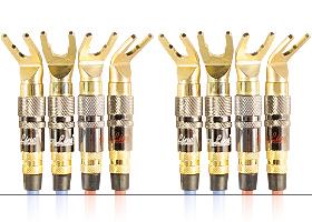 Акустический кабель | серия REFERENCE Line | 4х Spade 45 гр. > 4х Spade / Bi-wiring
