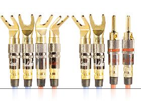 Акустический кабель | серия REFERENCE Line | 4х Spade 45 гр. > 2х Spade/2x Banana / Bi-wiring